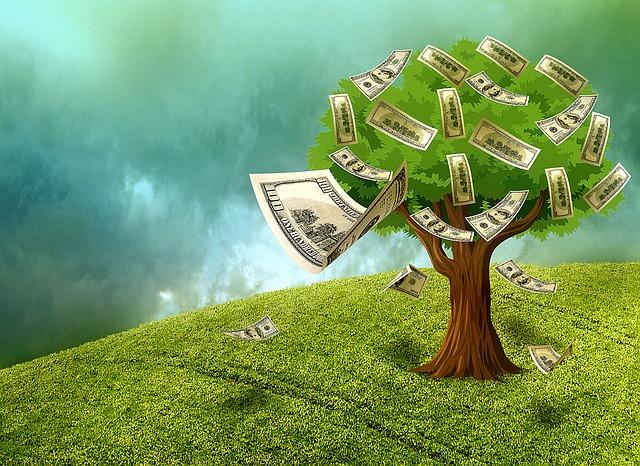peníze ze stromu